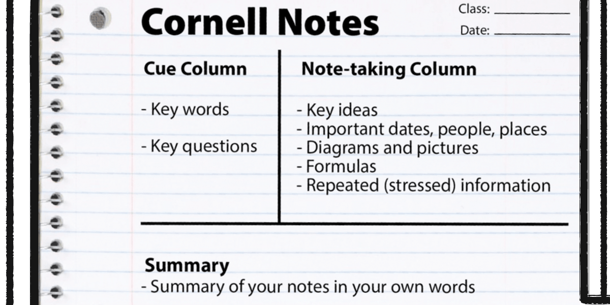 The Cornell Method of note-taking-elifnotes.com