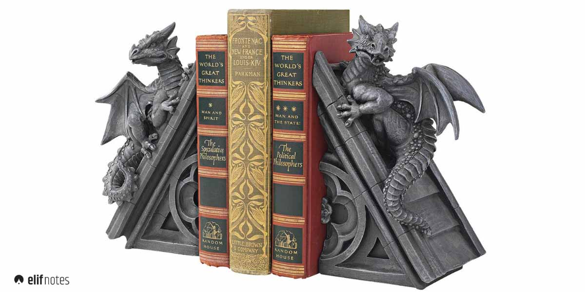 gothic-dragon-bookend-image