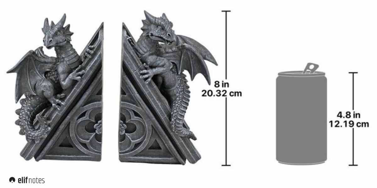 gothic-dragon-bookend-size