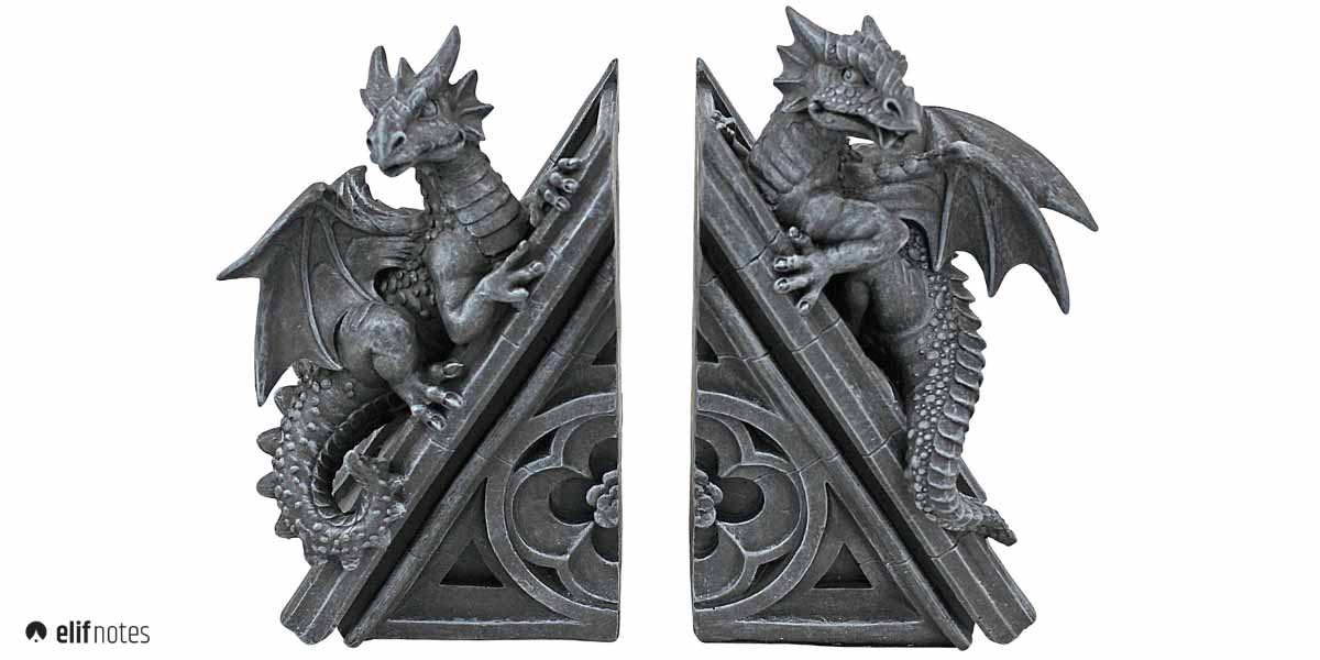 gothic-dragon-bookends
